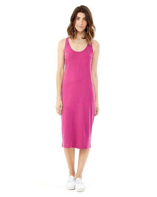 Alternative Apparel - Purple Cotton Modal Racerback Midi Dress - Lyst