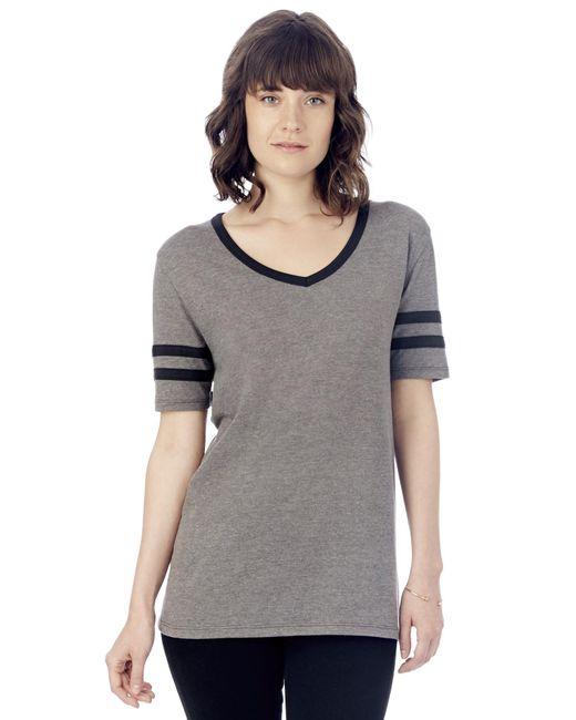 Alternative Apparel - Black Varsity Vintage Jersey T-shirt - Lyst