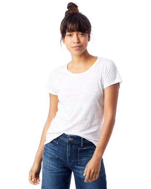 Alternative Apparel - White Keepsake Burnout Vintage Jersey T-shirt - Lyst