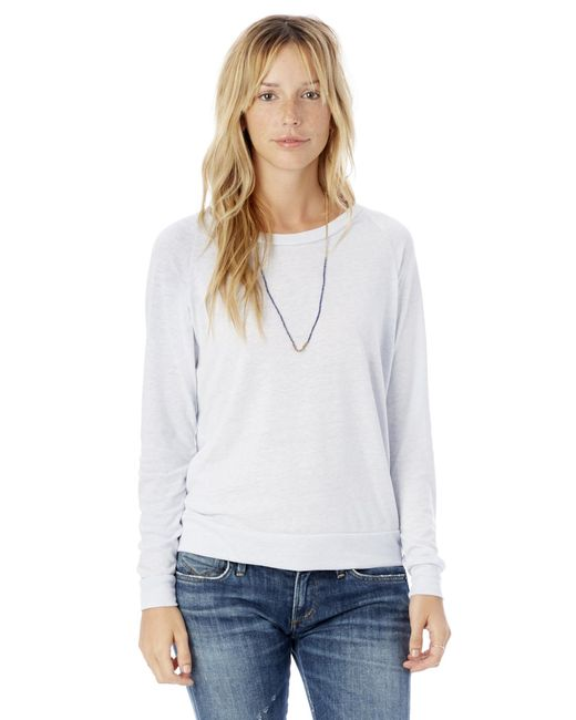 Alternative Apparel - Blue Slouchy Eco-jersey Pullover - Lyst