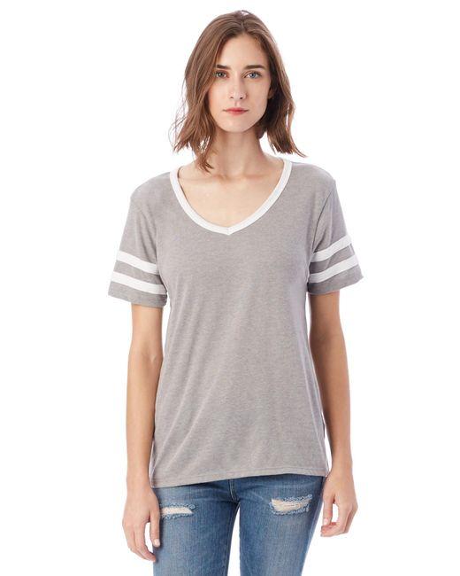 Alternative Apparel - Gray Varsity Vintage Jersey T-shirt - Lyst
