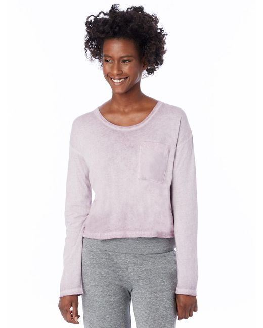 Alternative Apparel   Purple Element Wash High-waisted T-shirt   Lyst