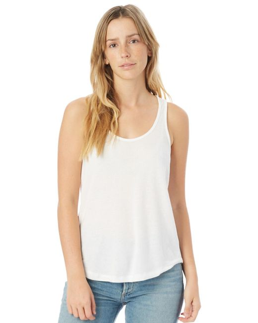 Alternative Apparel - White Backstage Vintage Jersey Tank Top - Lyst