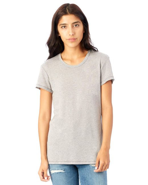 Alternative Apparel - Gray Keepsake Vintage Jersey T-shirt - Lyst