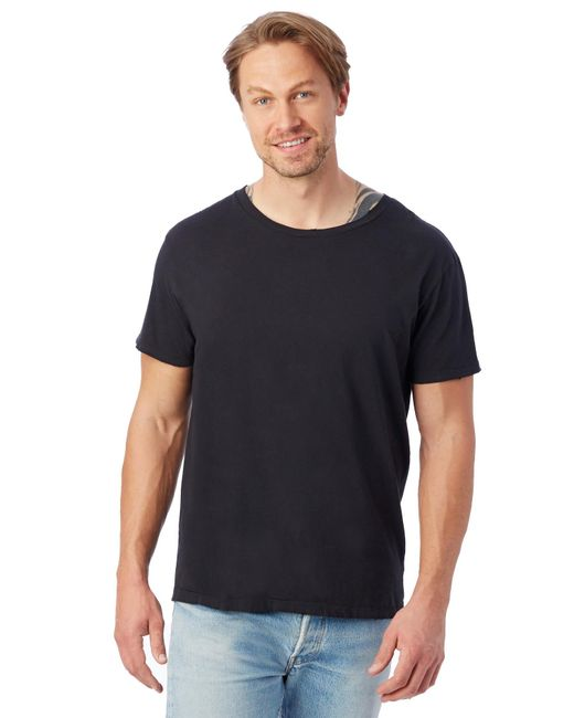 Alternative Apparel - Black Heritage Garment Dyed Distressed T-shirt for Men - Lyst
