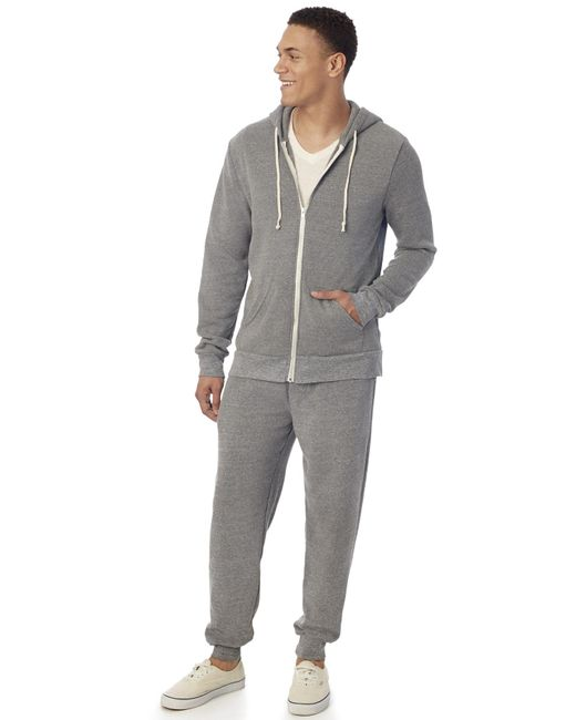 Alternative Apparel | Gray Warm-up Suit Hoodie And Pants 2-pk Bundle for Men | Lyst