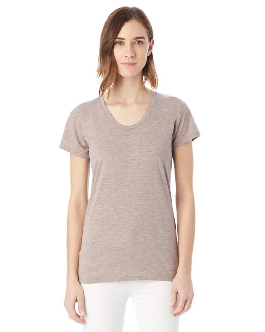 Alternative Apparel | Gray Kimber Melange Burnout T-shirt | Lyst
