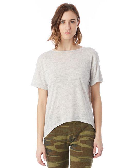 Alternative Apparel | Natural Pony Melange Burnout T-shirt W/ Back Strap | Lyst