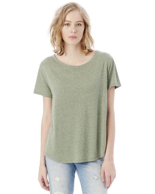 Alternative Apparel | Green Backstage Vintage Jersey T-shirt | Lyst
