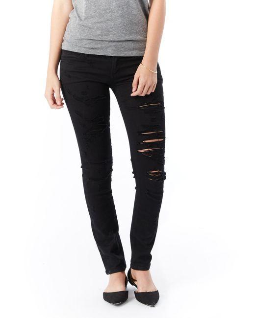 Alternative Apparel   Black Agolde Chloe Low Rise Slim Jeans   Lyst