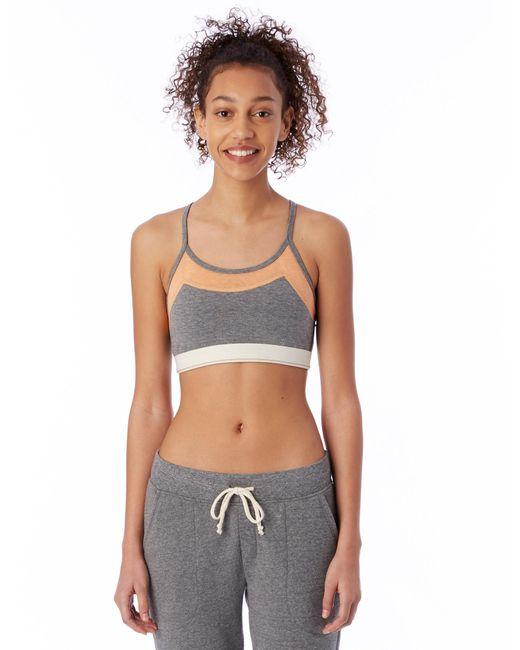 Alternative Apparel - Gray Stretch It Out Eco-lycra Jersey Bra - Lyst