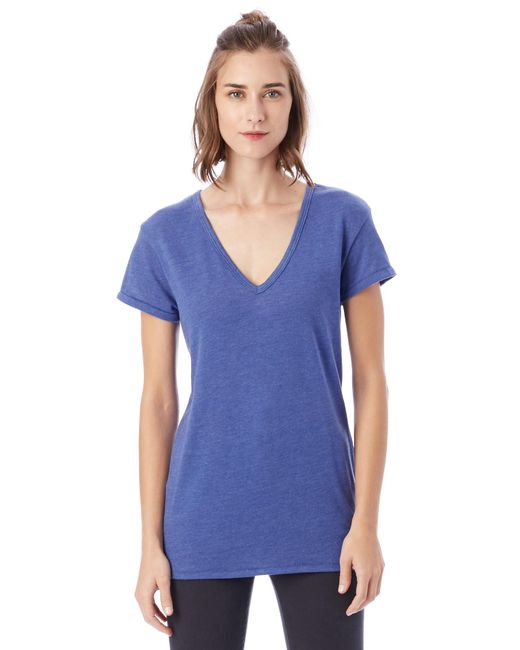 Alternative Apparel - Blue Keepsake Vintage Jersey V-neck T-shirt - Lyst