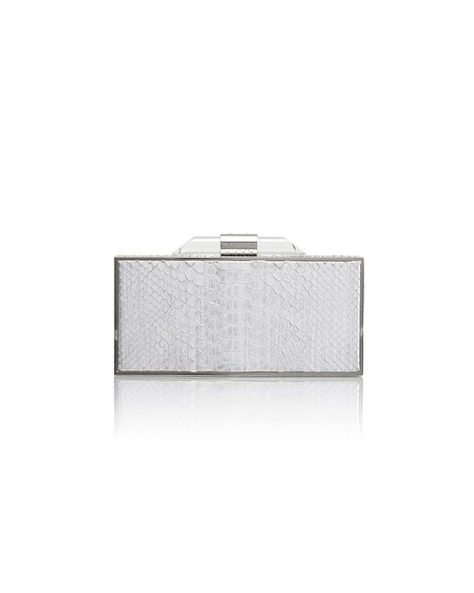 Amanda Wakeley | Metallic Beatty Silver Python Box Clutch | Lyst