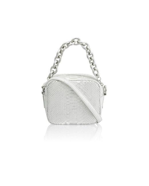 Amanda Wakeley - Metallic Jackson Silver Python Pochette Bag - Lyst
