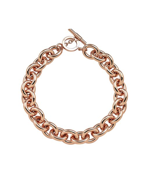 Amanda Wakeley | Metallic Chunky Rose Gold Necklace | Lyst