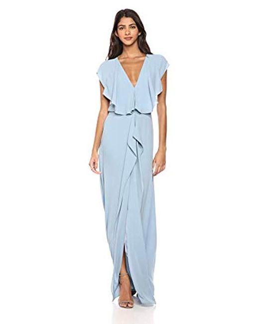 BCBGMAXAZRIA - Blue Bcbgmax Azria Evette Woven Ruffle Dress - Lyst ... a712cfb4e