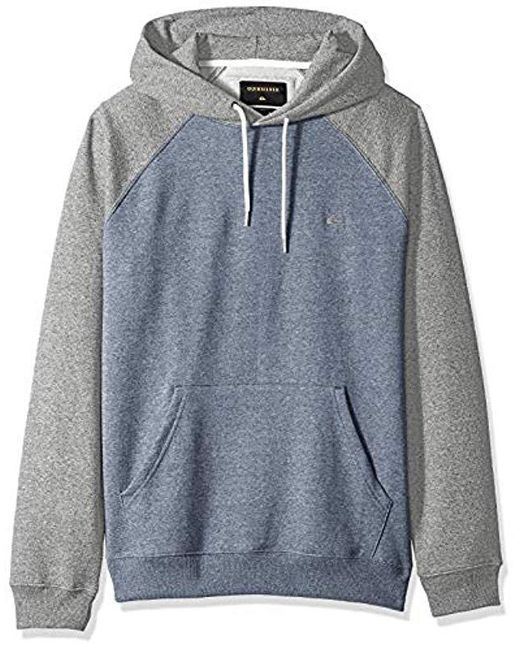 Quiksilver - Blue Everyday Hood Fleece Crew Neck for Men - Lyst