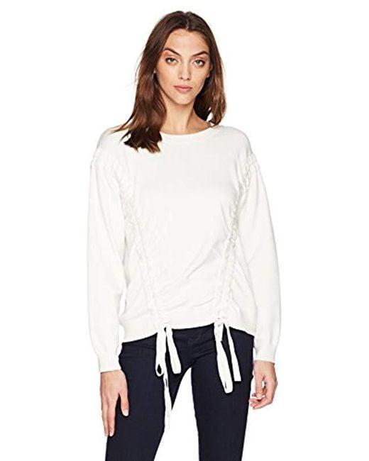 MILLY - White Tunnel Sweatshirt - Lyst