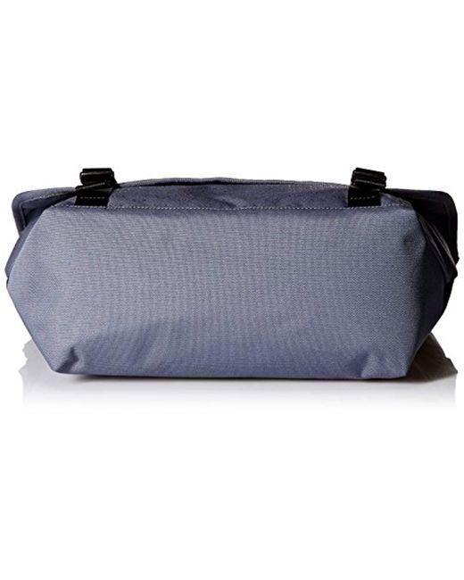 e26e1b15830a ... Armani Exchange - Blue Rmni Exchnge Light Weight Dobby Nylon Ll Over  Logo Messenger Bg for ...