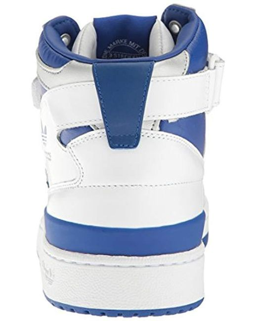 104a2c8590a ... cheap adidas originals blue forum mid refined fashion sneakers for men  lyst e1bfe 63754