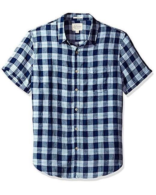Lucky Brand - Blue Woven Ballona Shirt for Men - Lyst