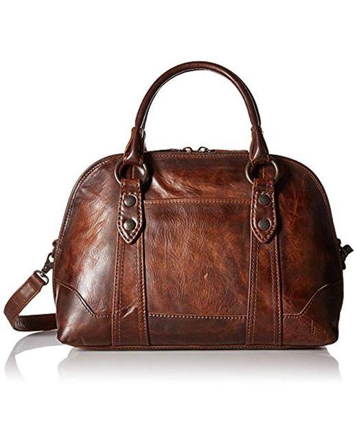 Frye - Brown Melissa Domed Satchel Leather Handbag - Lyst