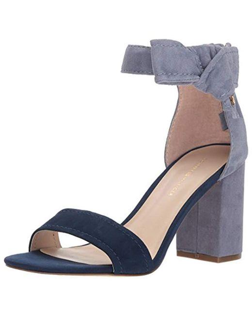ab499c9531 Lyst - Tommy Hilfiger Sunday Heeled Sandal in Blue - Save 37%