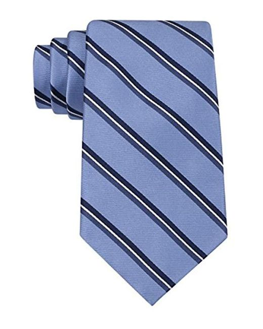 Tommy Hilfiger - Blue Stripe Tie for Men - Lyst