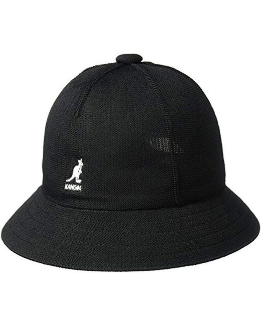 caa9fab41a6 ... half off 05306 09169 Kangol - Black Tropic Casual Bucket Hat Wit Seam  Details for Men ...