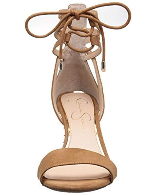 b3d848fc0a85 Lyst - Jessica Simpson Maevi Gladiator Sandal Honey Brown in Brown ...