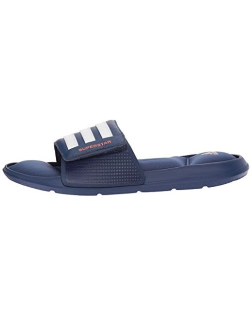 91fd46dcde7341 ... Adidas Originals - Blue Adidas Superstar 5g Slide Sandal