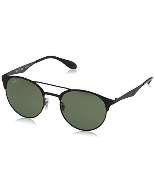 bc77cb48fe Ray-Ban - Black Double Bridge Round Sunglasses for Men - Lyst ...