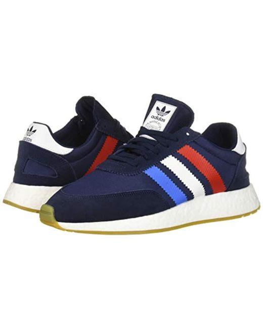 adidas Originals Men's I 5923 Running Shoe, Collegiate NavyActive redTrue Blue, 5 M US