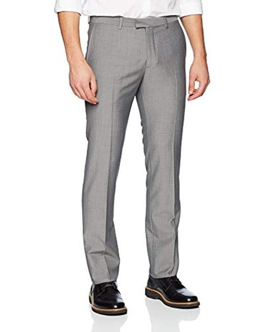 Theory Gray Marlo Basket Weave Pant for men