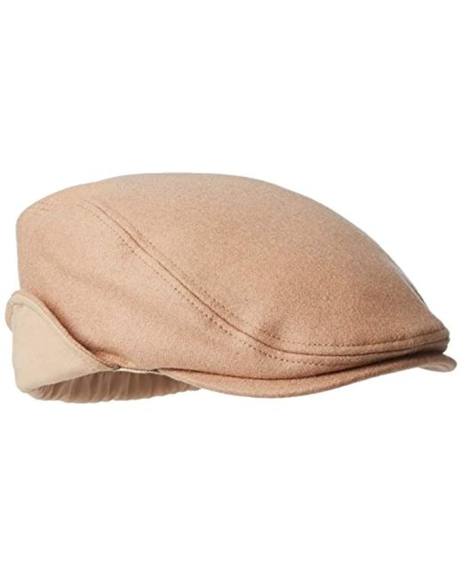 90a2f09595046 ... Dockers - Natural Solid Melton Hat With Fold-down Ear Flaps for Men -  Lyst