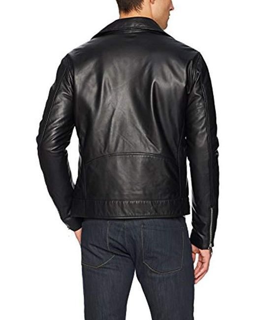 2d3da8630 Lyst - Armani Exchange | Lether Moto Jcket in Black for Men
