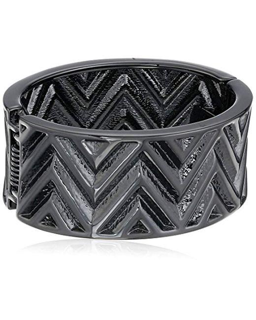 Guess - Multicolor S Chevron Stripe Wide Stretch Bracelet - Lyst