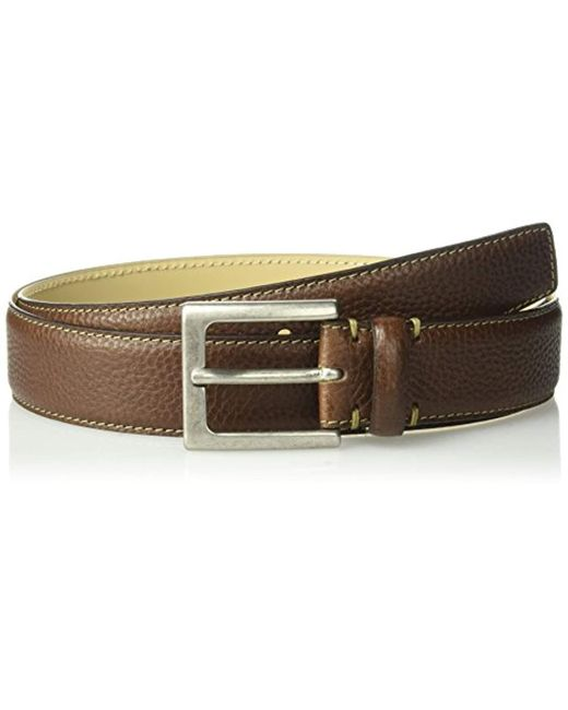 Tommy Bahama Brown Leather Belt for men