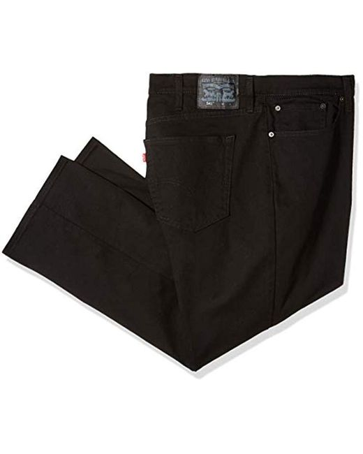 Levi's Black S Big And Tall 541 Athletic Fit Jean Solid Jeans for men