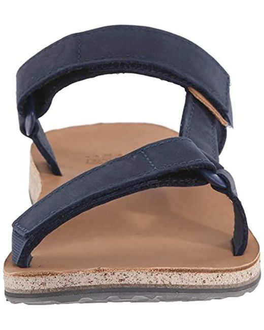 d2f7c6a942f ... Teva - Blue Original Universal Slide Leather Sports And Outdoor  Lifestyle Sandal for Men - Lyst ...