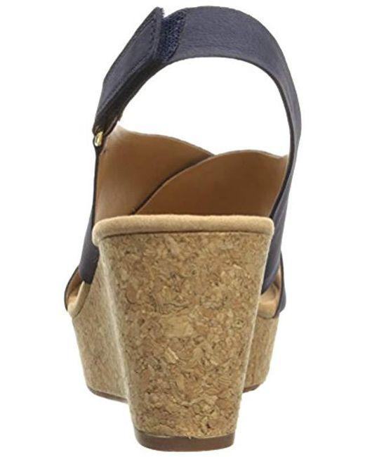 a89a3b0f6e3 Lyst - Clarks Annadel Eirwyn (black Nubuck) Women s Sandals in Blue ...