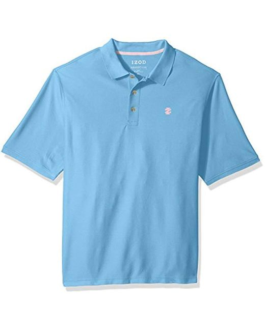 Izod - Blue Advantage Performance Solid Polo (big Tall Slim) for Men - Lyst