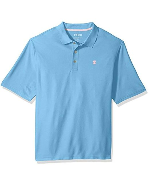 Izod - Blue Big And Tall Performance Golf Southwind Fashion Polo for Men - Lyst