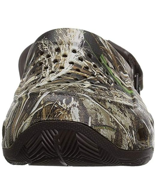 567b5dcbde313 ... Crocs™ - Brown Swiftwater Deck Realtree Max-5 Mule for Men - Lyst ...