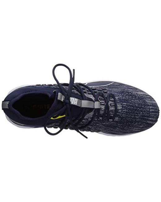 ... PUMA - Blue Speed 600 Fusefit (peacoat  White blazing Yellow) Men s  Shoes 595c67171
