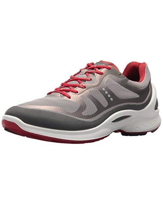 Ecco - Gray Biom Fjuel Tie Walking Shoe for Men - Lyst