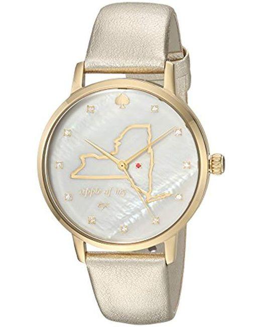 b1d9e8ca927 Kate Spade - Metallic Ksw1298 Metro Analog Display Japanese Quartz Gold  Watch - Lyst ...