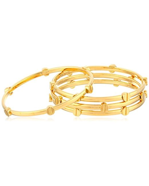 Vince Camuto - Metallic Gold Tone Stacked Bracelet - Lyst