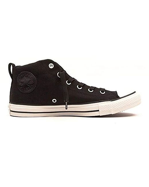 b9f77da847c0 Converse - Black Street Canvas Mid Top Sneaker for Men - Lyst ...