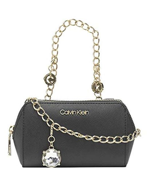 Calvin Klein Black Marybelle Saffiano Belt Bag